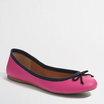 Factory two-tone classic ballet flats