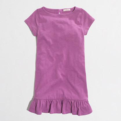Factory girls' ruffle-hem tee dress