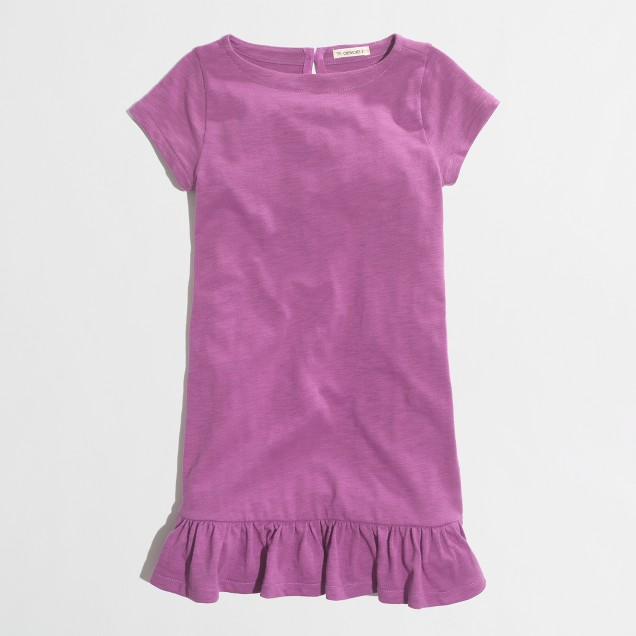 Factory girls' ruffle-hem tee dress