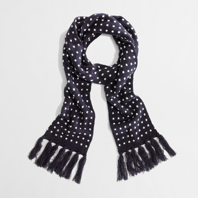 Factory dot scarf