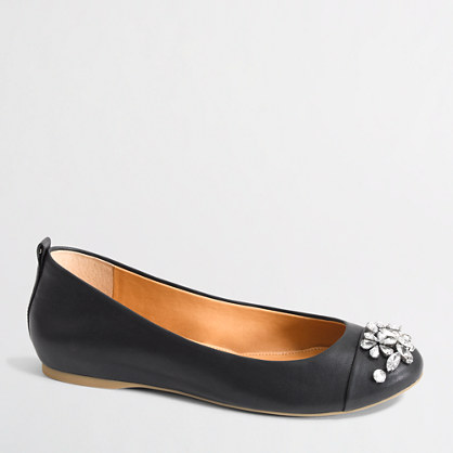 Factory jeweled ballet flats