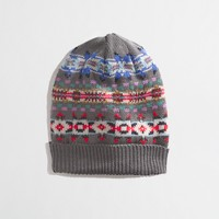 Factory Fair Isle stripe hat