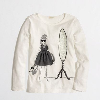 Factory girls' long-sleeve glamour girl keepsake tee