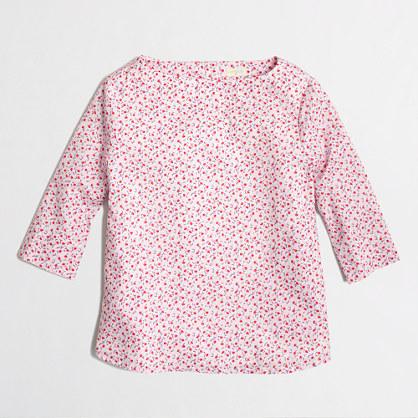 Factory girls' button-back top