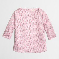 Factory girls' button-back top