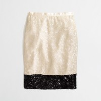 Factory pencil skirt in colorblock sequin