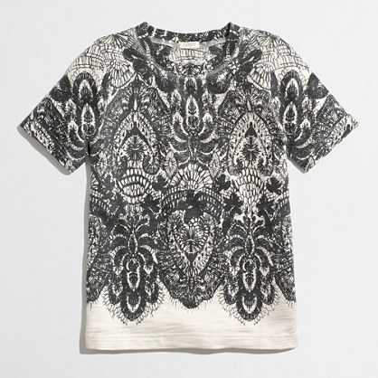 Factory lace-print sweatshirt