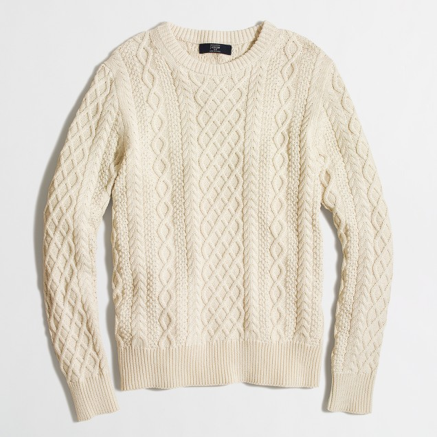 Fisherman cable crewneck sweater : FactoryMen Cotton | Factory