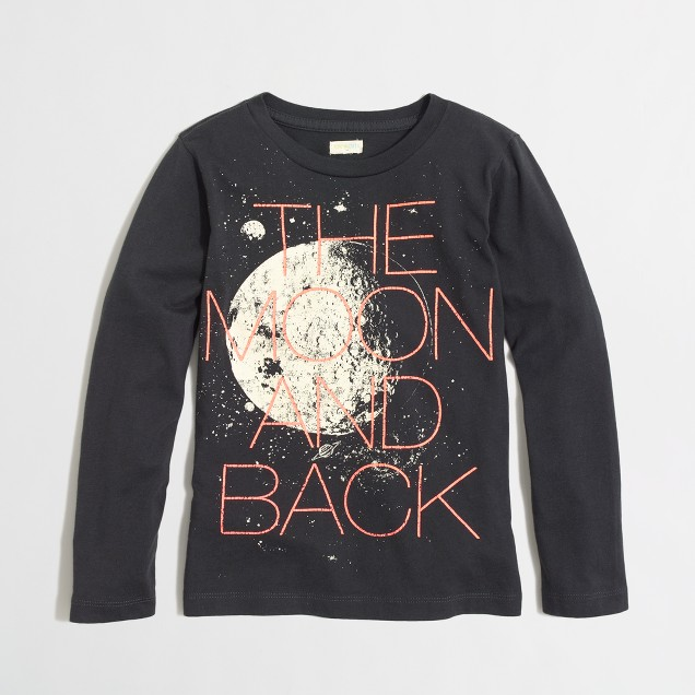 Factory boys' long-sleeve glow-in-the-dark moon storybook tee