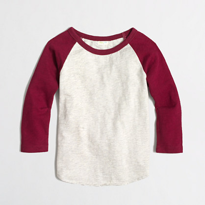 Factory boys' contrast-collar baseball tee