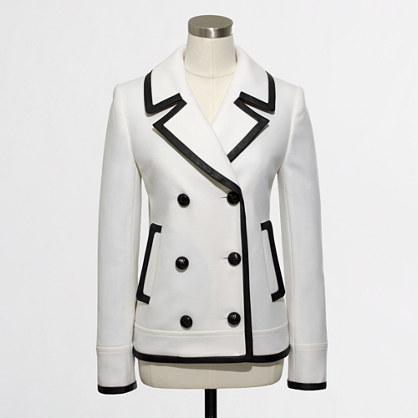 Factory tipped peacoat