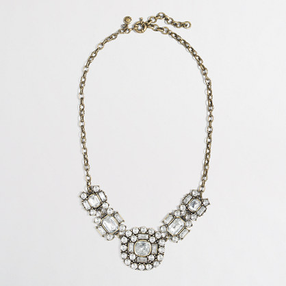 Factory crystal brooch necklace