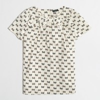 Factory printed bow-neck top