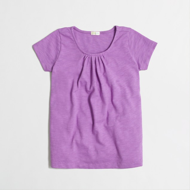 Factory girls' pleated tee