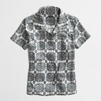 Factory printed collared popover
