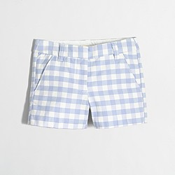 Factory girls' printed chino short