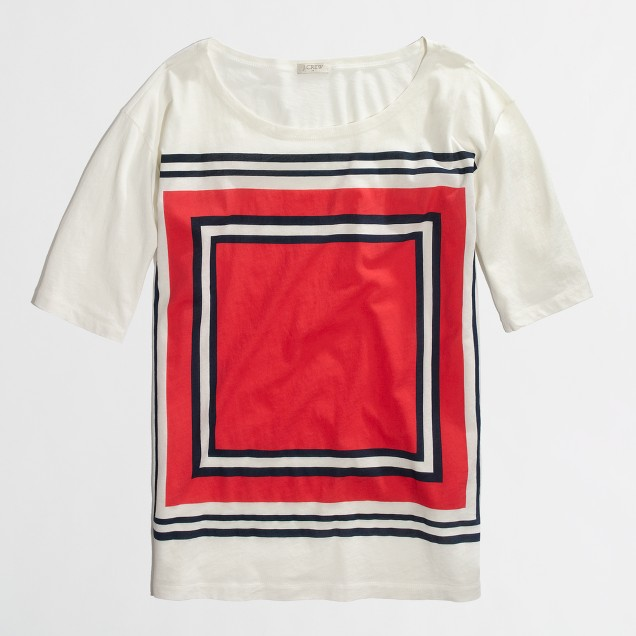 Factory stripe-square collector tee