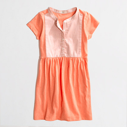 Factory girls' colorblock tee dress