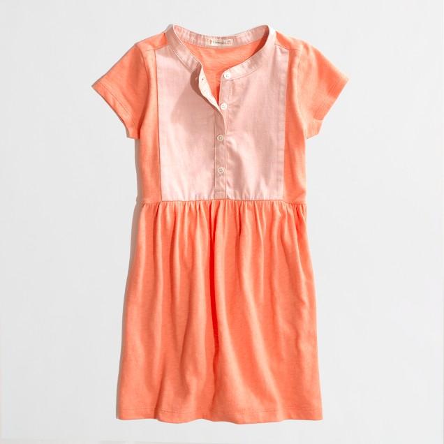 Factory girls' colorblock tee dress