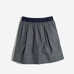 Factory girls' chambray skirt