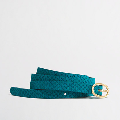 Factory croc-embossed belt
