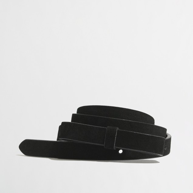 Factory suede bow belt