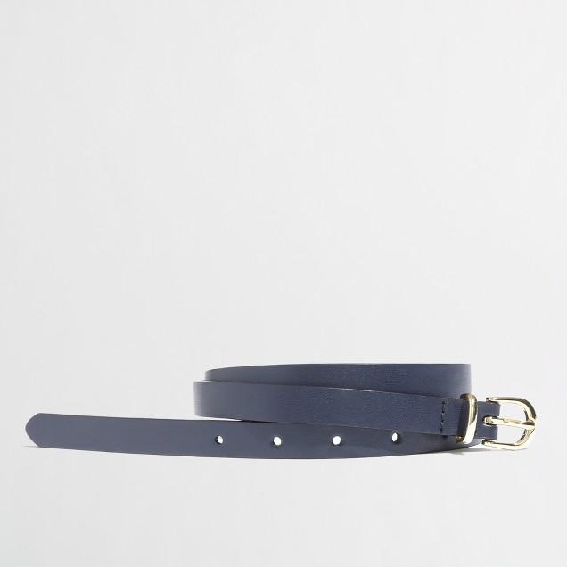 Factory leather loop belt