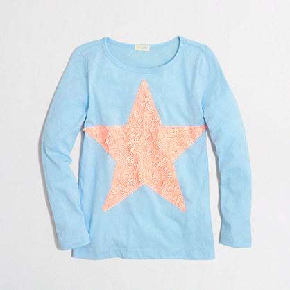 Factory girls' long-sleeve big star keepsake tee