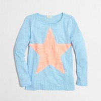Factory girls' long-sleeve big star keepsake tee
