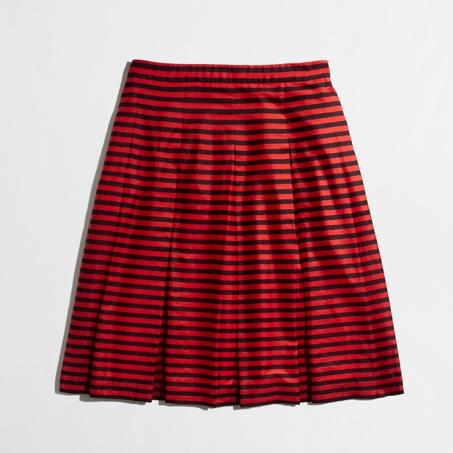 Factory stripe flare skirt