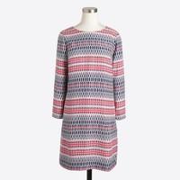 Printed three-quarter sleeve gallery dress