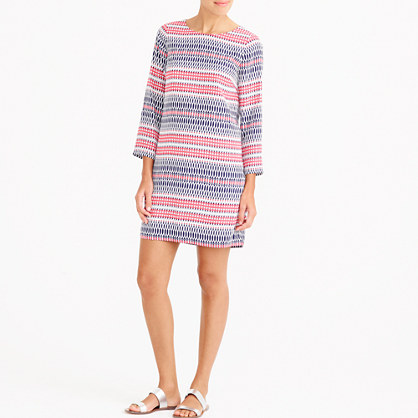 Printed three-quarter sleeve gallery dress