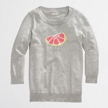 Factory intarsia citrus sweater