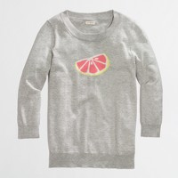 Factory intarsia citrus sweater