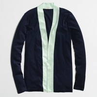 Factory always cardigan in colorblock