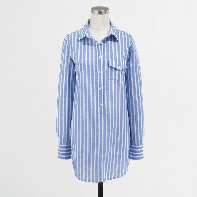 Factory stripe pocket tunic
