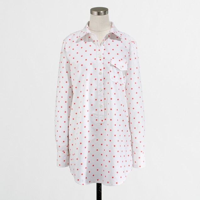 Factory dotted oxford pocket tunic