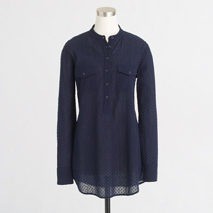 Factory textured-dot tunic