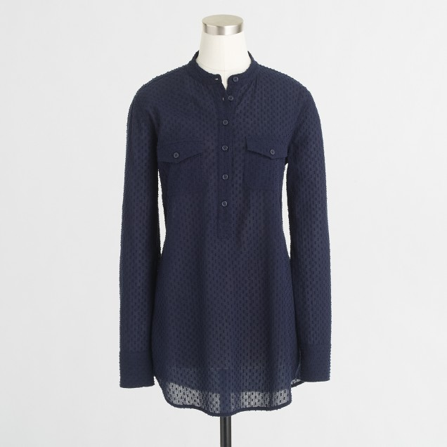 Factory textured-dot tunic