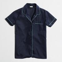Factory short-sleeve dotted pajama shirt