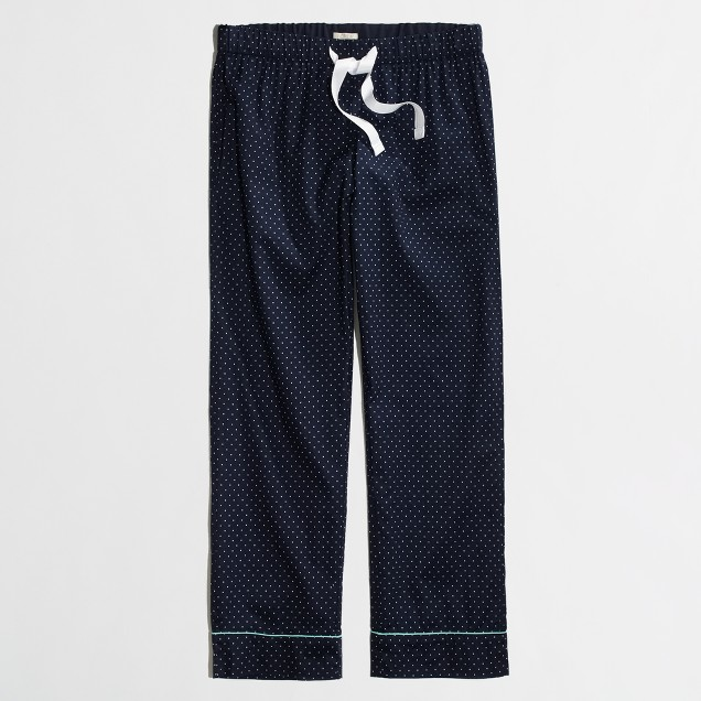 Factory cropped SLEEP pant in dots