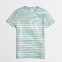 Factory slim placed-stripe tee