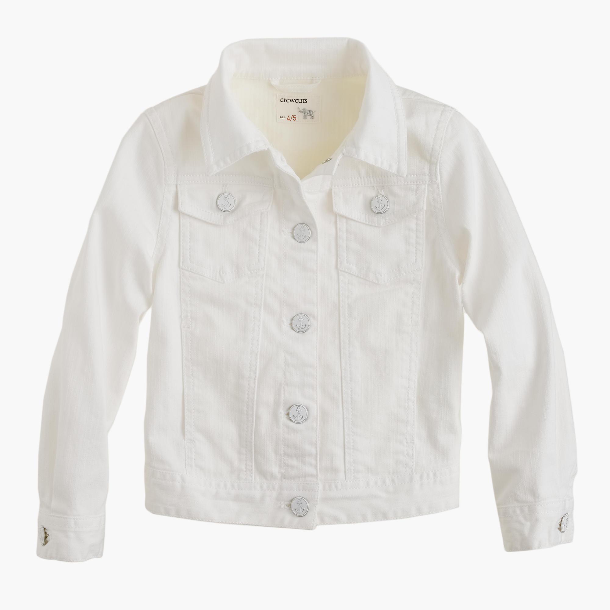 White jean jackets for women