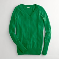 Factory wool-blend V-neck sweater