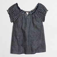 Factory ruffled cap-sleeve tee