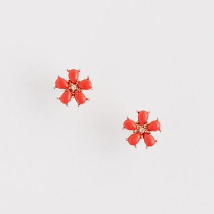 Factory enamel flower stud earrings