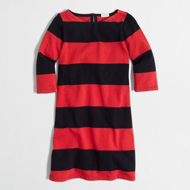 Factory girls' rugby-stripe boatneck dress