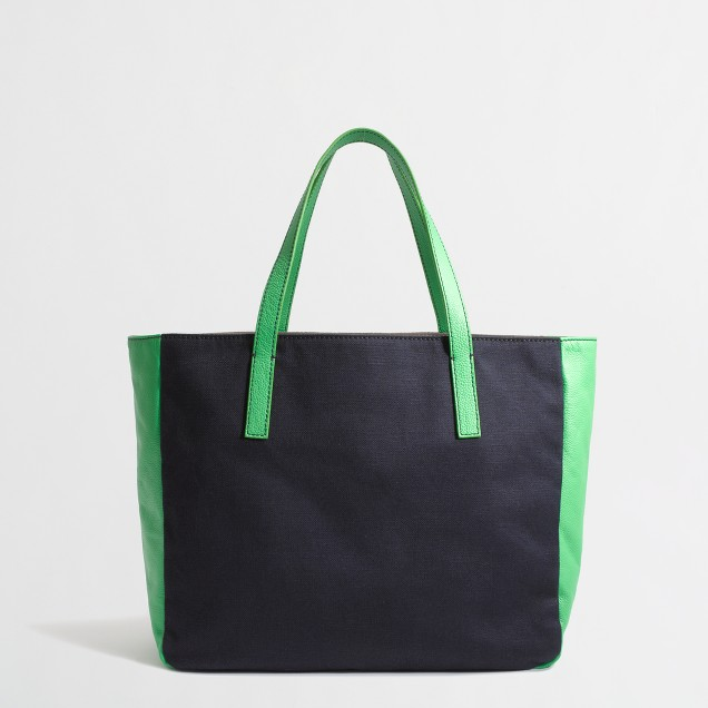 Factory two-tone tote bag