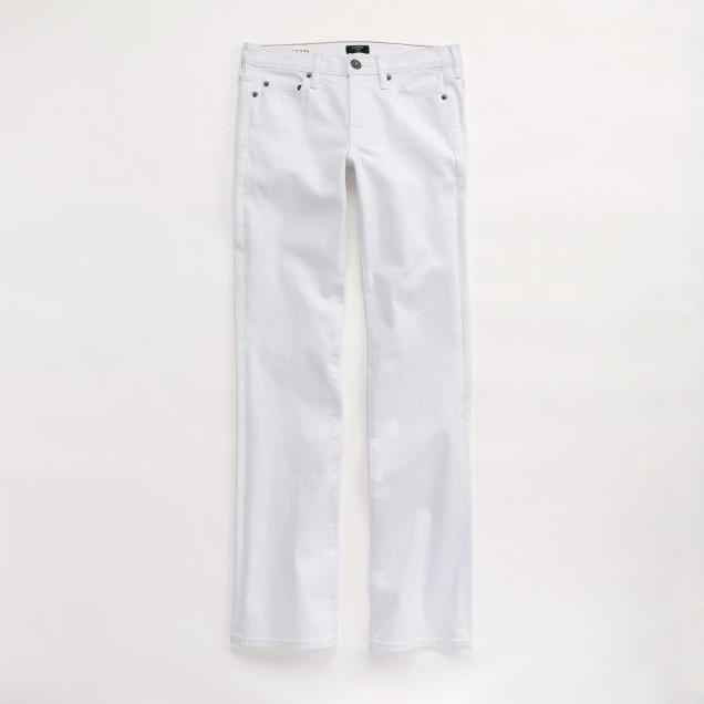 Factory hip-slung jean in white denim