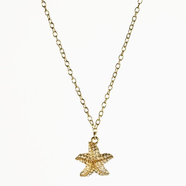 Factory pavé starfish necklace